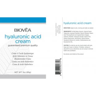 Крем с хиалуронова киселина против бръчки 85 g. - ключът към младостта от Biovea
